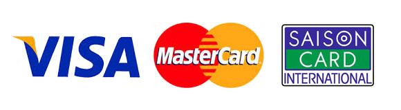VISA・MasterCard・SAISONカードロゴ