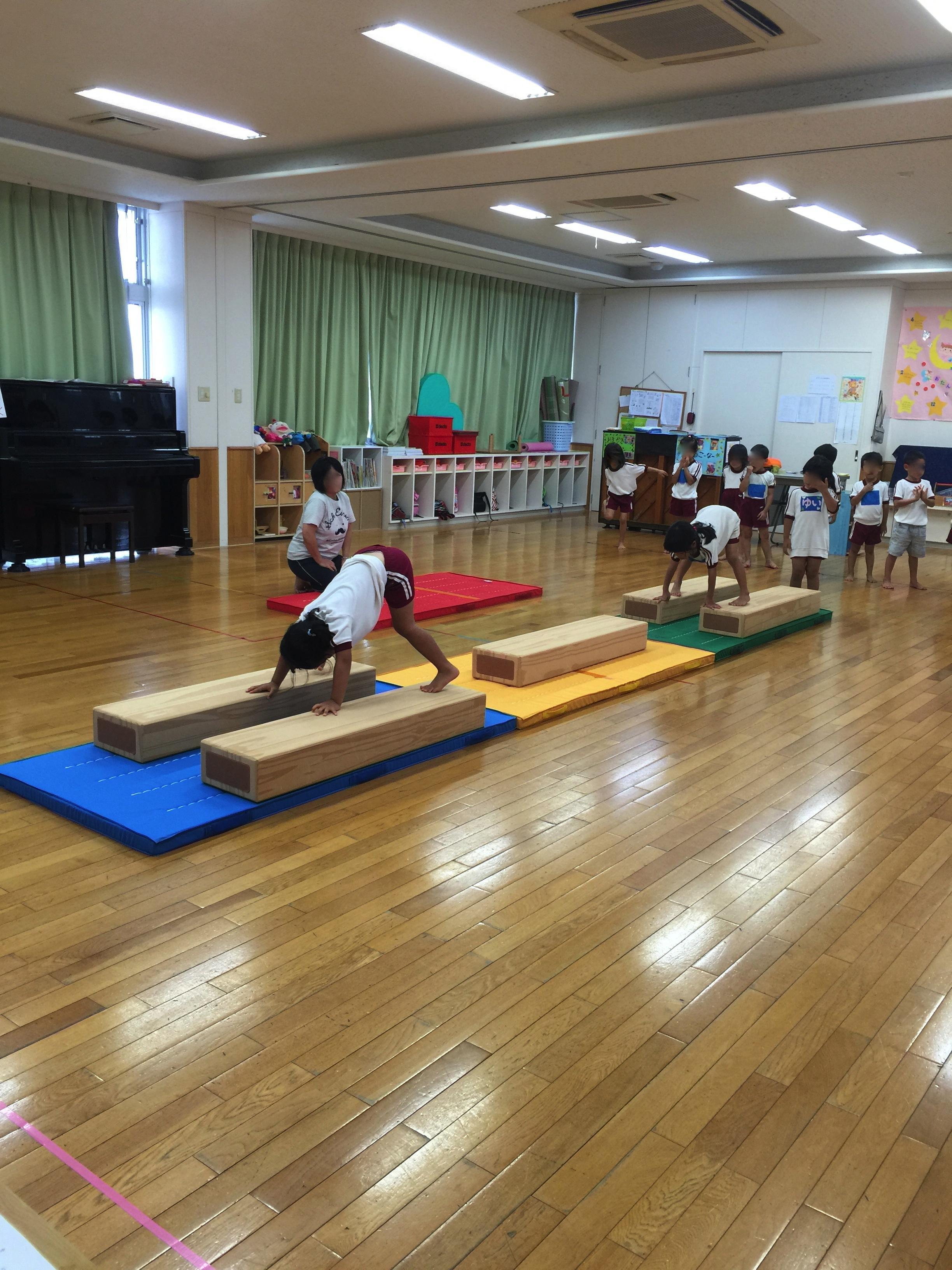 ☆健康子供☆  マーシー保育園にて、忍者遊び。